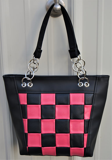Black & Pink Checkered
