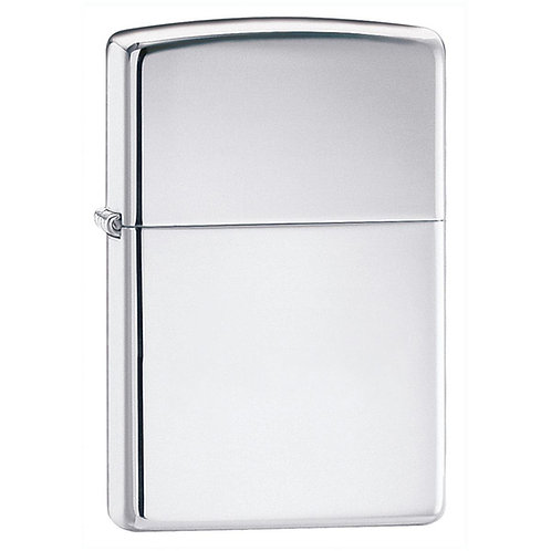 Zippo Lighter, Polished Steel