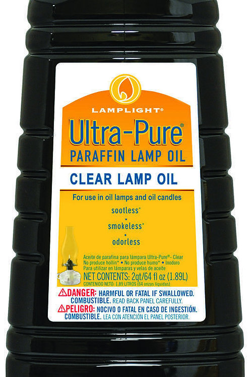 Ultra-Pure Clear Lamp Oil - Lamplight 2qt/64fl oz (1.89L)