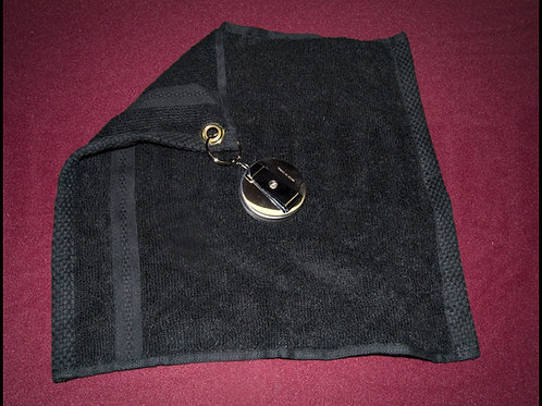 Retractable Wipe Rag with Belt Clip