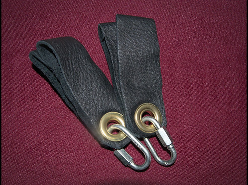 Leather Poi Handles (Pair), Double Loop