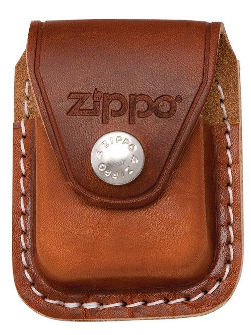 Zippo Case, Black/Brown Leather