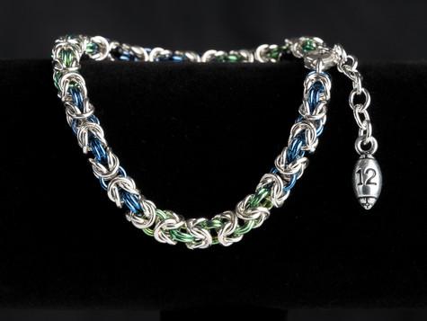 Seahawks byzantine bracelet