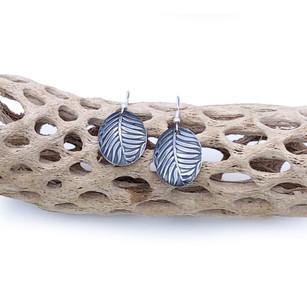 Sterling Silver Earrings- Ferns