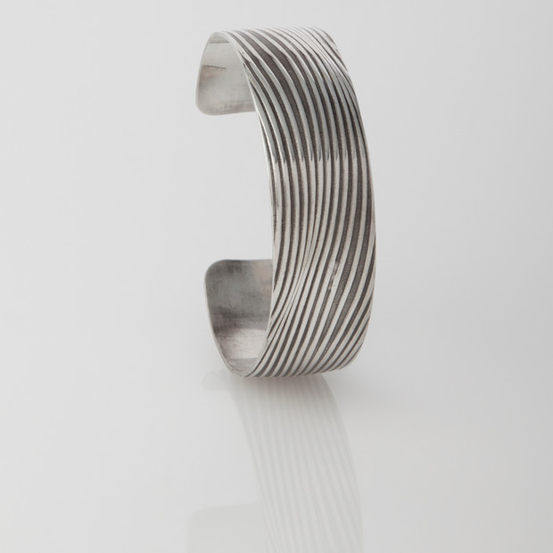 Sterling silver cuff - Waves