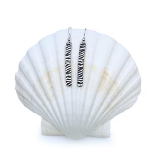 Sterling Silver Earrings - Stripes