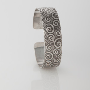 Sterling silver cuff - Swirl
