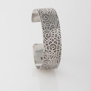 Sterling silver cuff - Fancy