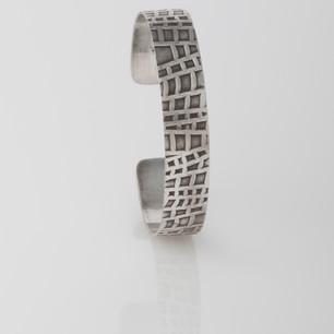 Sterling silver cuff - Lattice 2