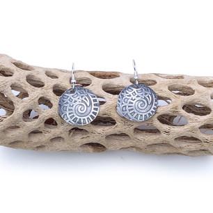 Sterling Silver Earrings - Nautilus