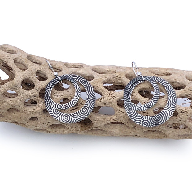 Sterling Silver Earrings - Round and Round