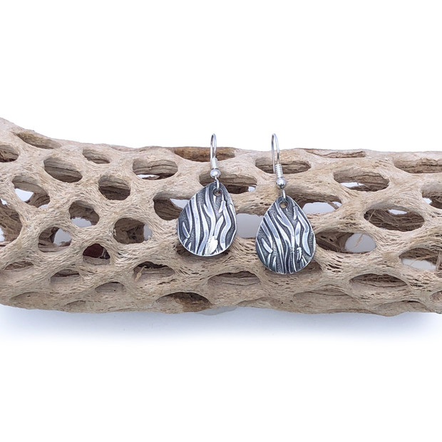 Sterling Silver Earrings - Flames