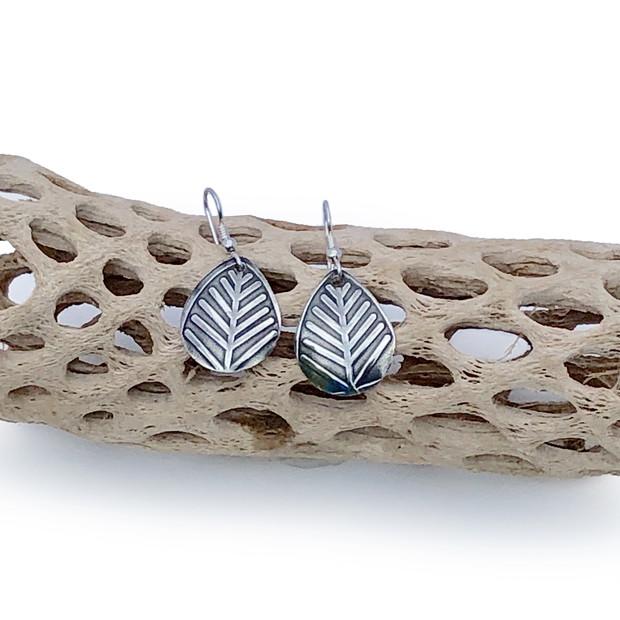 Sterling Silver Earrings - Leaves