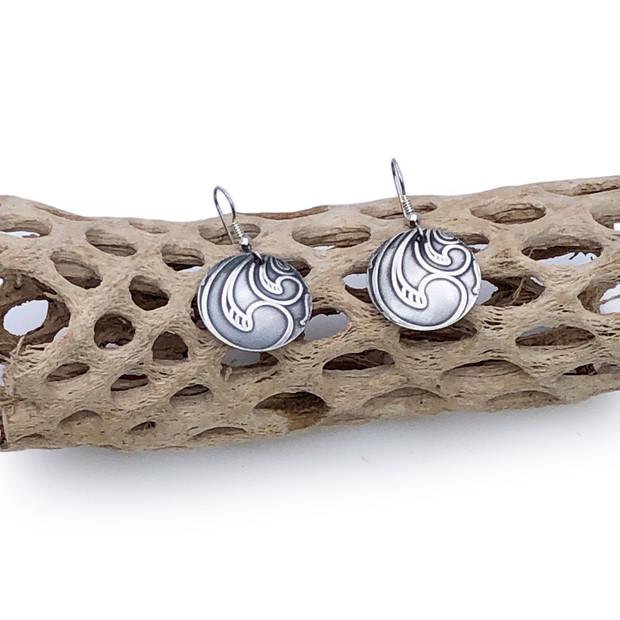 Sterling Silver Earrings - Big Swirl