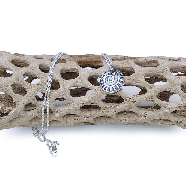 Sterling Silver Pendant - Nautilus
