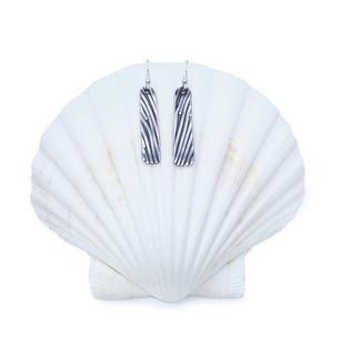 Sterling Silver Earrings - Sliding Stripes