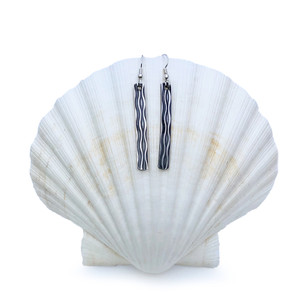 Sterling Silver Earrings - Long Waves