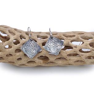 Sterling silver earrings - Swirly