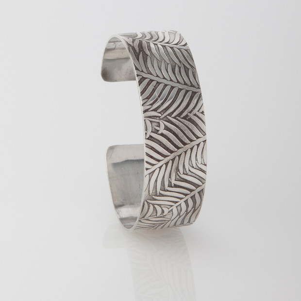 Sterling silver cuff - Flora