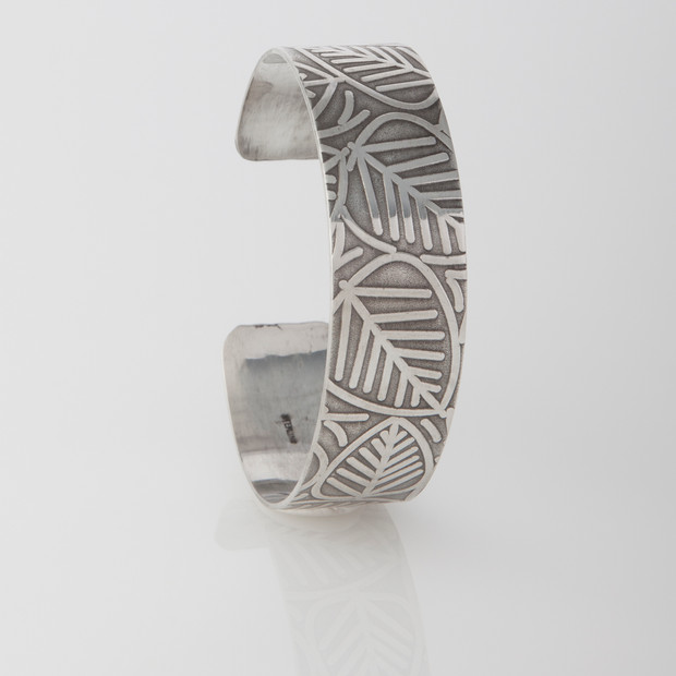 Sterling silver cuff - Bigger Leaves