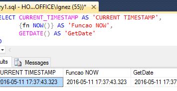 Trabalhando com a data e hora atual do servidor SQL Server