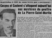 Casteret & Cosyns au gouffre de la Pierre Saint-Martin