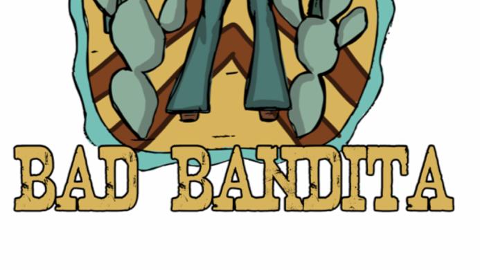 Bad Bandita Heather Dust Cropped Hoodie