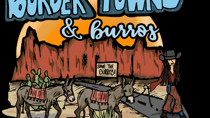 Border Towns & Burros Grey Adult Hoodie. (Order on Demand Only)