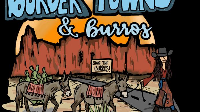 Border Towns & Burros Grey Adult Hoodie. (Available ETA 2/26)