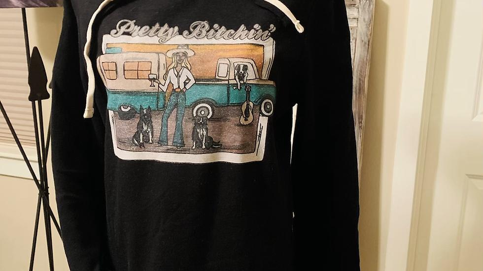 Pretty Bitchin' Black Sweatshirt Dress