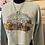 Thumbnail: Friends In Low Places Dusty Blue Cropped Crewneck Sweatshirt