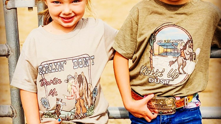 Kickin' Up Dust Heather Olive Toddler Tee.