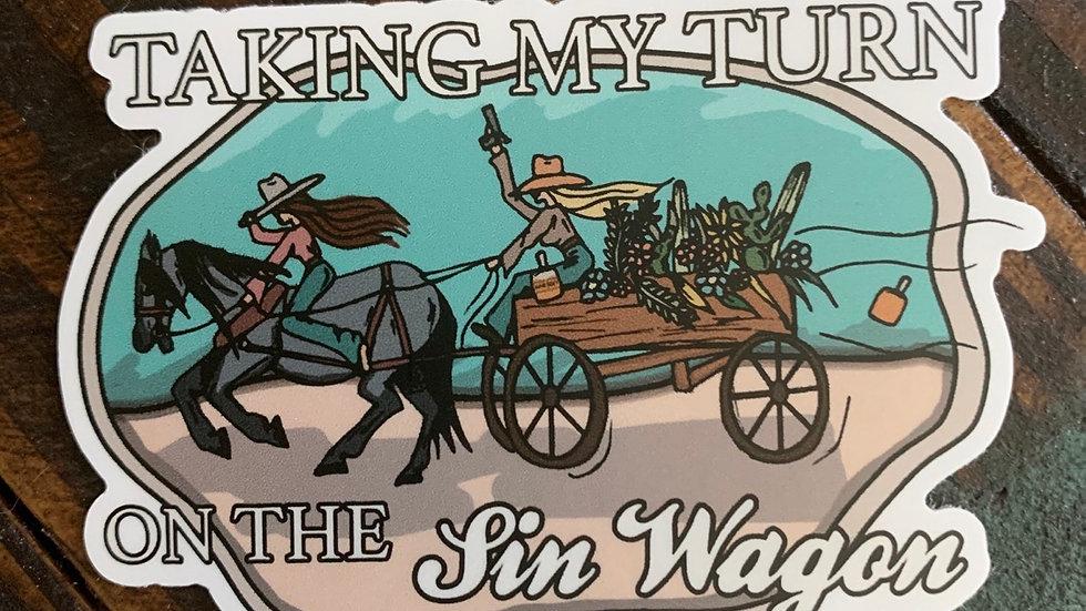 Sin Wagon Sticker.