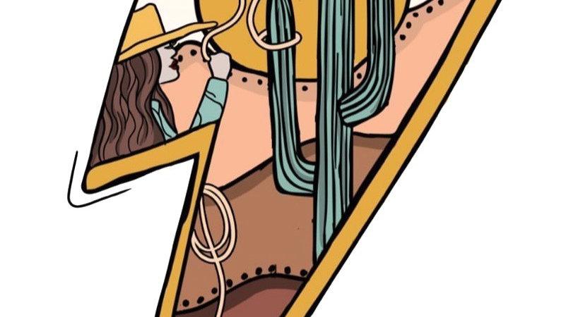 Lightning Cowgirl Strikes Heather Dust Cropped Hoodie (Pre Order ETA 3/16)