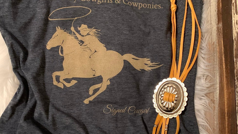 Signed Cowgirl Collection. The History Of The West Tee.