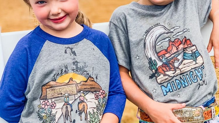 Waylon, Willie & The Boys Toddler Raglan Tee (Print on Demand)