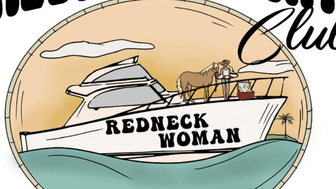Redneck Yacht Club Dusty Blue Crop Tee (Pre Order ETA 7/29)