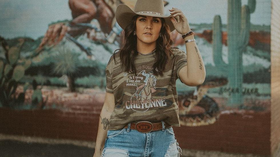 Still Make Cheyenne Camo Crop Tee