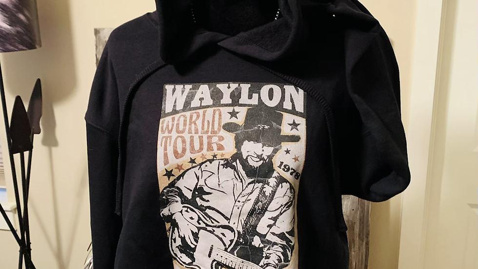 Waylon World Tour Black Cropped Hoodie (Pre Order - Available Jan 6)
