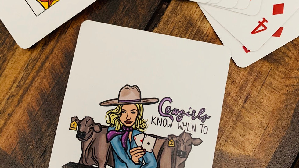 Cowgirl Playing Cards.