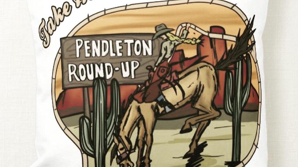 Take Me To The Rodeo Throw Pillow