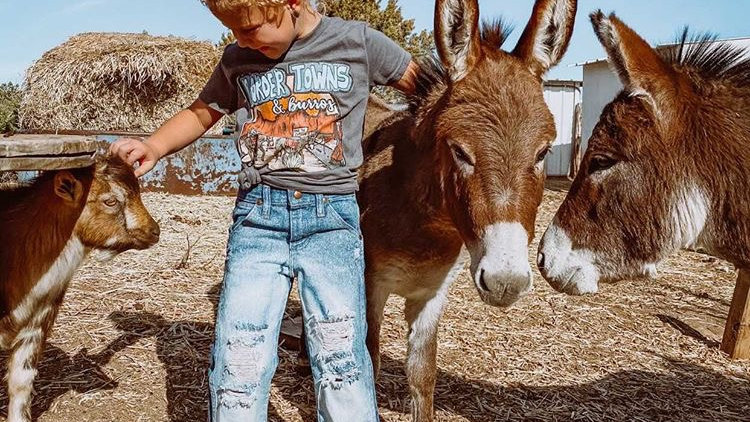 Border Towns & Burros Youth Tee.