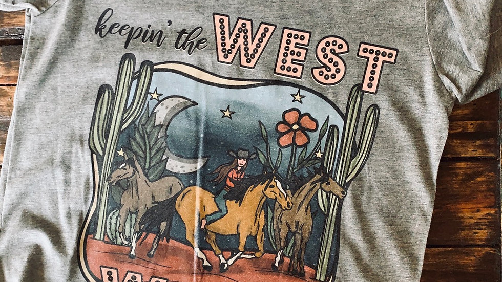 Keepin' The West Wild Youth Tee.