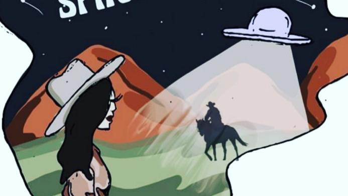Space Cowboy Black Camo Cropped Hoodie (Pre Order ETA 2/22)