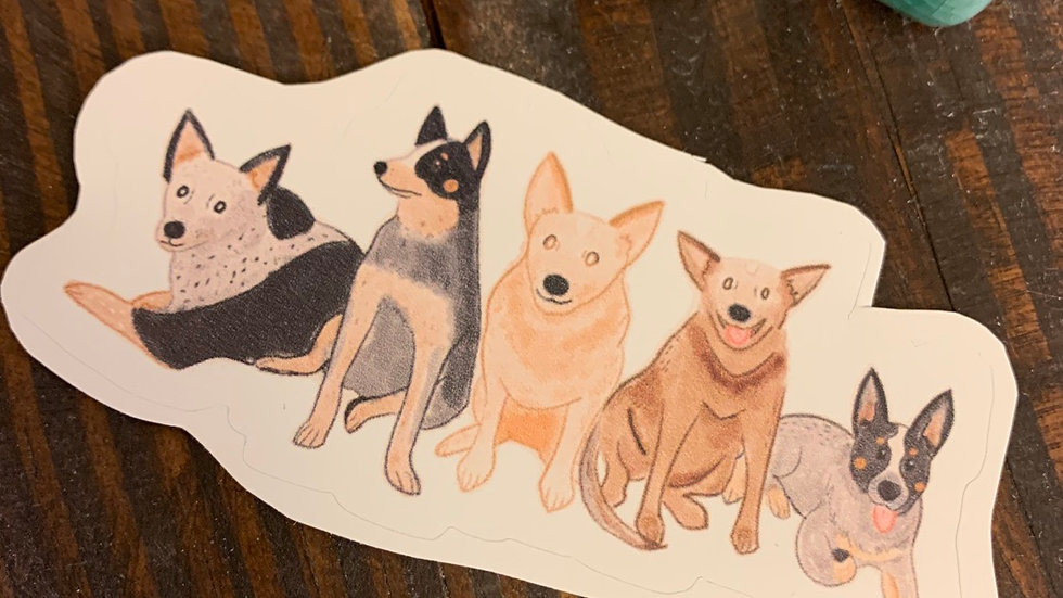 Cow Pup Gang Sticker.