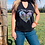 Thumbnail: Late Nights & Longhorns Cut Out Neck Adult Tee.