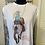 Thumbnail: Long Live Cowgirls White Rolled Sleeve Tee