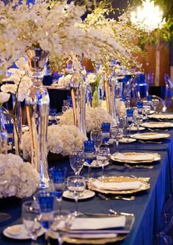 Cobalt Blue & White Reception