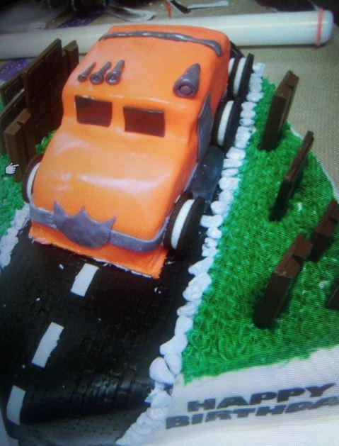 Birthday Truck Cake