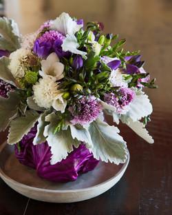 Purple Cabbage Centerpiece